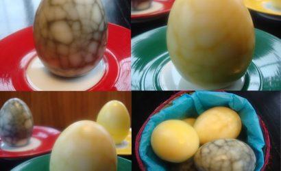 Oeufs de Pâques colorés naturellement