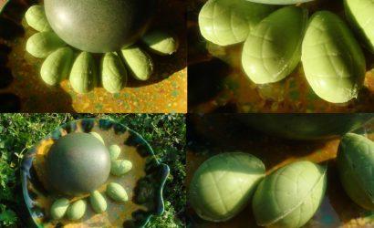 Œufs de Pâques tout vert au matcha