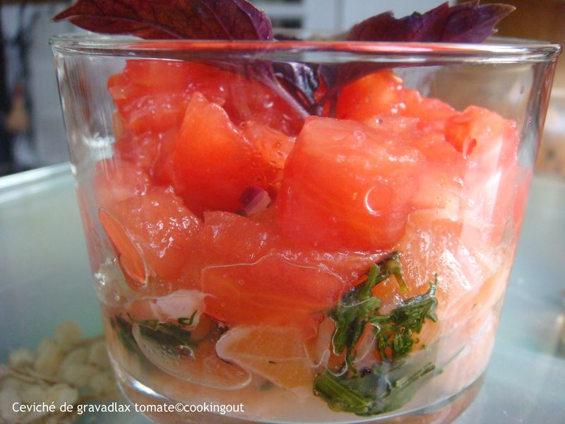 Ceviché de Gravadlax à la tomate