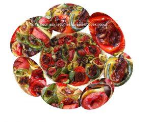 Tarte fleur aux légumes du soleil inspirée d'Alain Passard