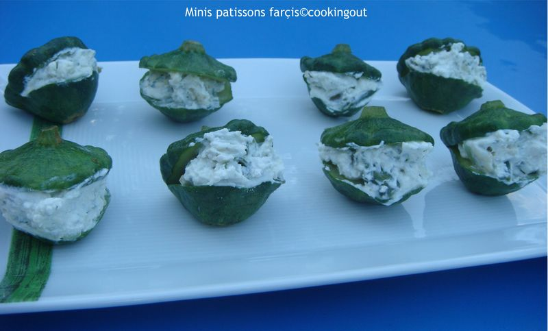 Mini Patissons farçis au fromage