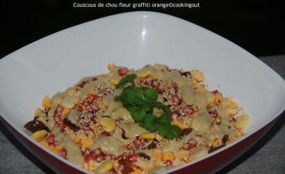Couscous de chou-fleur graffiti orange au sésame