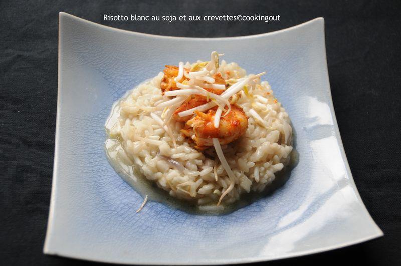 Risotto au pousses de soja et aux crevettes