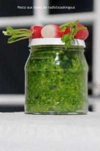 Pesto vert aux fanes de radis