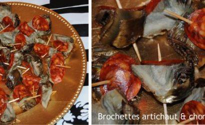 Artichauts à la bargoule et chorizo pour l'apéro