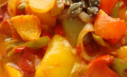 Peperonata à la sicilienne avec des poivrons