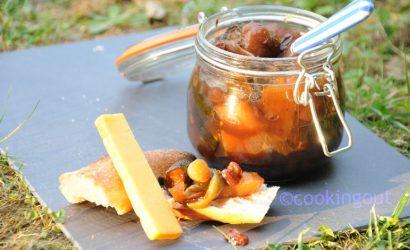 glutney aux courgettes et fruits