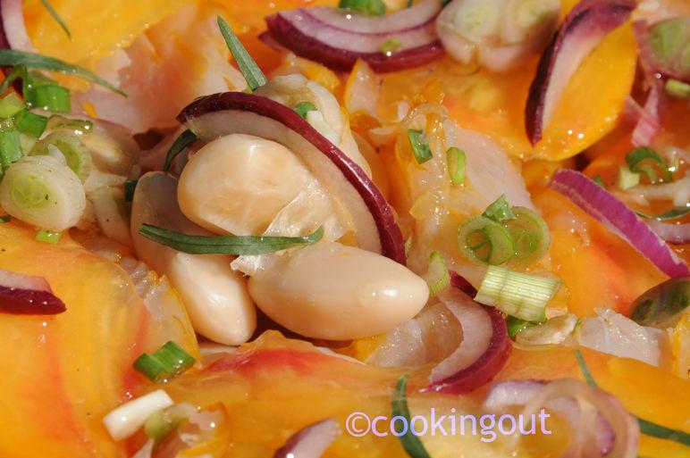 Salade de haricots de soissons au haddock, tomate ananas et estragon