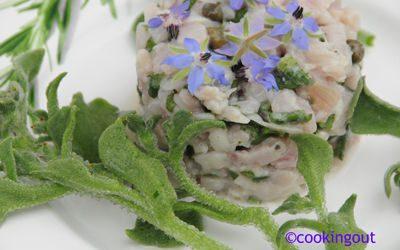 Tartare de thon blanc, bourrache, l'oseille