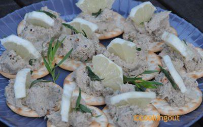 rillettes de sardines avec des restes de sardines cuites au BBQ