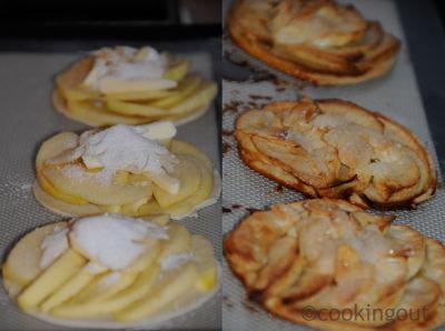 tartelettes fines aux pommes et à l'amande