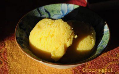 Glace à la bergamote ou citron limette
