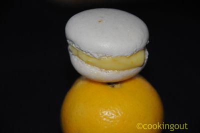 Macaron à la bergamote ou limette fraîche