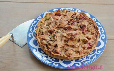 rhubarbe et biscuit de reims pour une tarte douce et gourmande