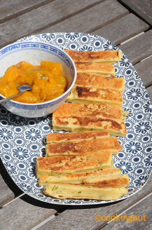 Les panisses de Georgiana avec son petit chutney poivron jaune et mangue