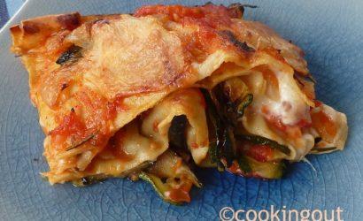 Lasagnes aux légumes du soleil parfumées à l'esprit de bœuf, un peu comme des lasagnes Canada Dry