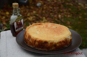 Cheese cake au goût du canada, pommes et sirop d'érable