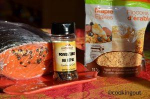 Gravadlax au flocons de sirop d'érable et poivre de timut