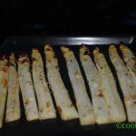 Asperges rôties, des asperges blanches confites au four