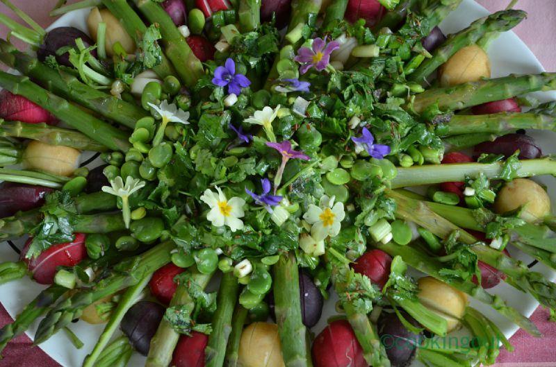 La quintessence de la salade printani re avec les l gumes de saison - Cuisiner les asperges vertes fraiches ...