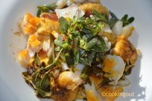 Gnudi au butternut squash, haddock, sauge et pourpier