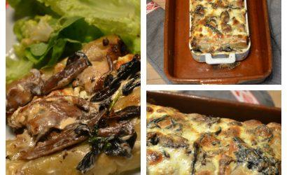 recette de Cannelloni au sanglier et champignons