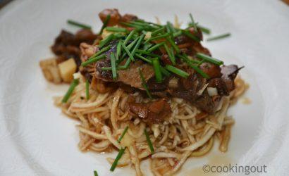recette d'entrée à base de céleri rave et de champignons