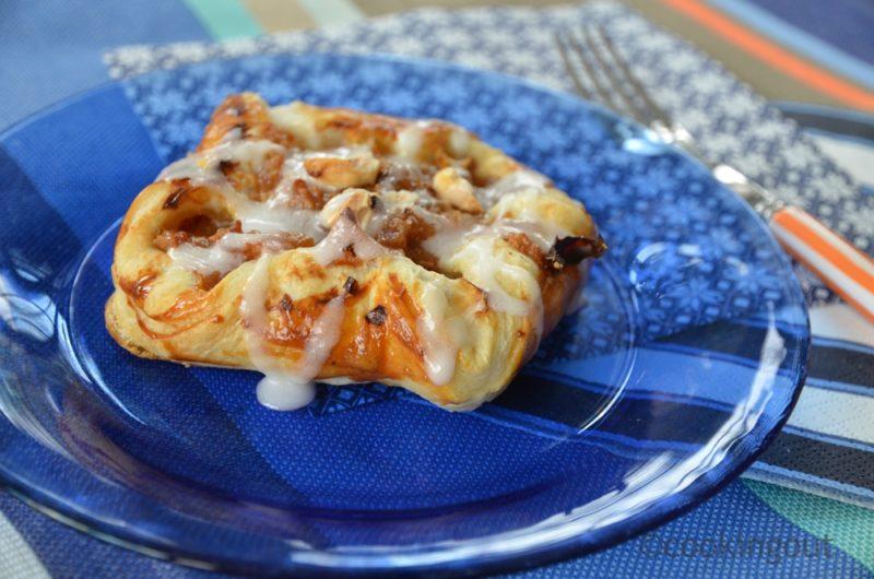Danish pastry à la pomme et noisettes