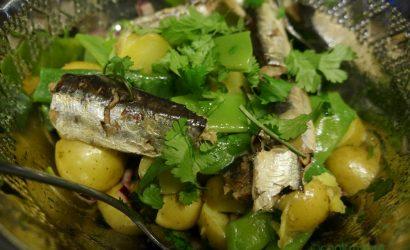 Salade de patates et haricots plats