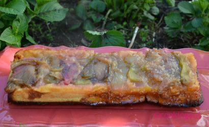 gâteau renversé à la rhubarbe est tout simplement renversant