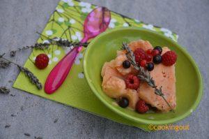 Frozen yogurt à l'abricot et lavande