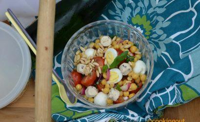 Recette de salade pois chiches et Boursin noix et figues