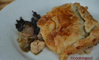 """Tourte de lapin aux champignons ou autrement dit """"rabbit pie"""" encore un plat pour les smalas !"""