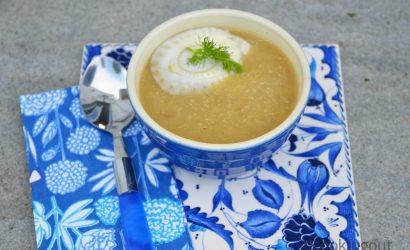 recette de soupe très agréable, velouté de fenoui