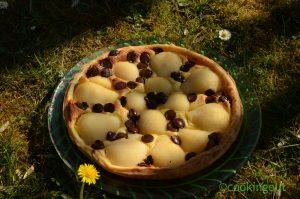 Tarte safranée et chocolatée aux poires, un dessert original et savoureux