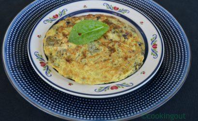 recette d'omelette à l'oseille cuite comme une torilla