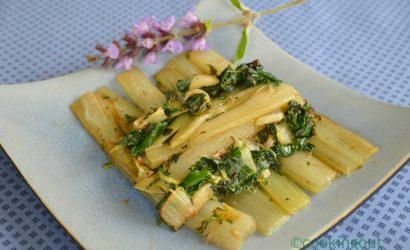 côtes et feuilles de blettes à la sauge, ail, anchois un petit air italien