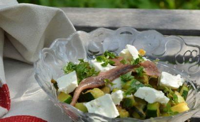 Plat qui permet de recycler les restes avec une base de courgettes