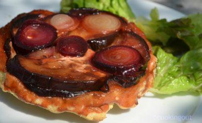 recette de tarte tatin à l'aubergine pour un convive allergique à la tomate