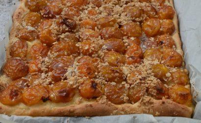 le dessert du weekend tarte levée aux mirabelles et flocon de sirop d'érable