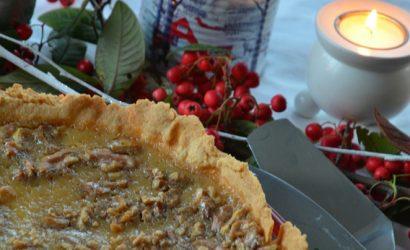 recette de Tarte au sirop d'érable et noix