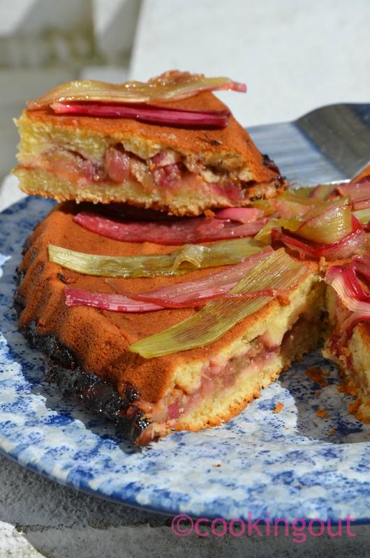 recette printanière de gâteau rhubarbe à la ricotta