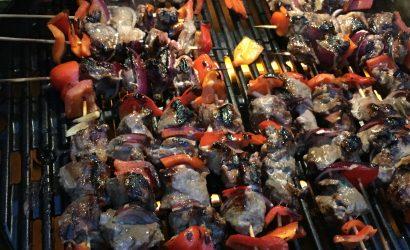recette estivale de brochettes de sanglier à cuire au BBQ