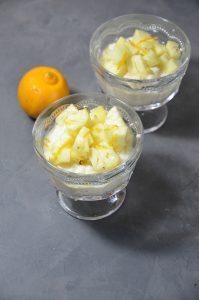 Riz au lait, parfumé à l'ananas et citron bergamote