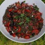 Salade de lentilles aux cerises aux parfums asiatiques et u_ne histoire de transmission