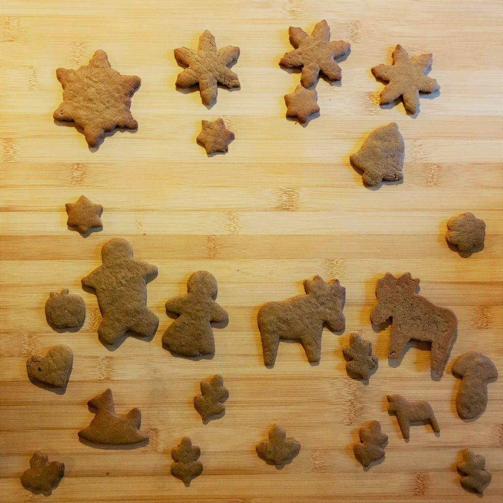 Tableau de petits biscuits