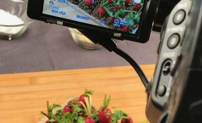 Photo de la prise vidéo how to de la recette de radis potager pour Rustica
