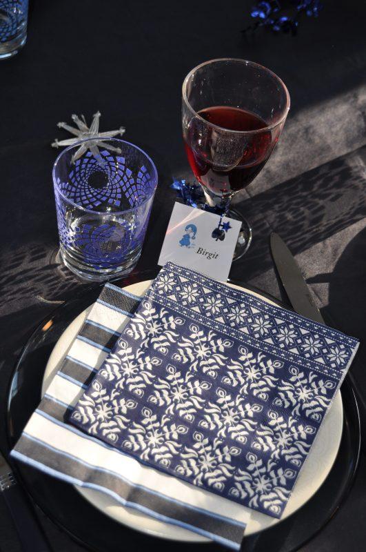 Marque place table de Noël