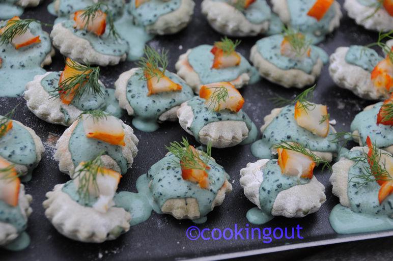 Minis pains polaires à la spirulne et au haddock et aneth