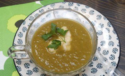 soupe aux poireaux sans pommes de terre parfumée au raifort
